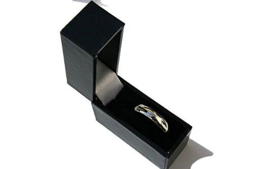 Argentium Silver Wedding Band Court 4mm Ring Size M Full UK Hallmarks