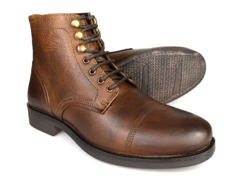 Silver Street Harley Brown Leather Casual Mens Chukka Boots