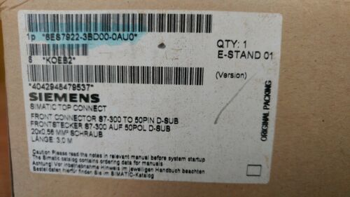 SIEMENS Cable with front connector for SIMATIC S7-300 20 pole 6ES7922-3BD00-0AU0