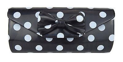 Tasche schwarz weiß Rockabilly Ella Jonte kleine Punkte Handtasche Retro Clutch