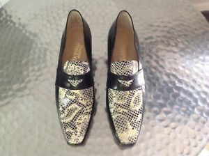 Ladies Black Leather Loafers By