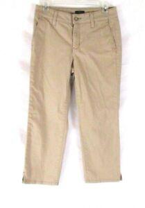 NYDJ-Not-Your-Daughters-Jeans-Crop-Pants-Capri-Sz-2-Beige-Womens-Stretch-CB80S