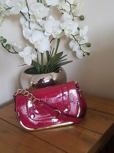in Madden Steve a color vernice Borsa rosa scuro tracolla q1BUc7I