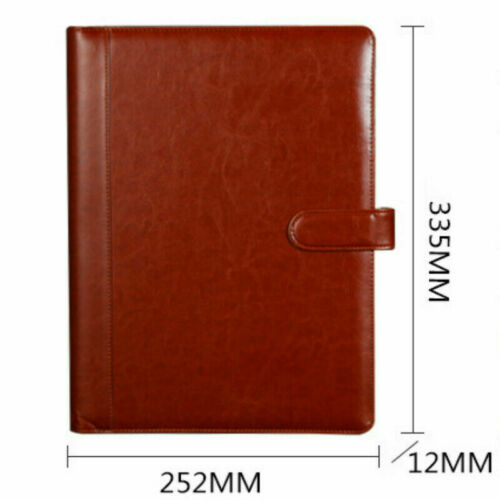 A4 Dokument Feile Ordner PU Leder Konferenz Notebook Aktentasche Padfolio