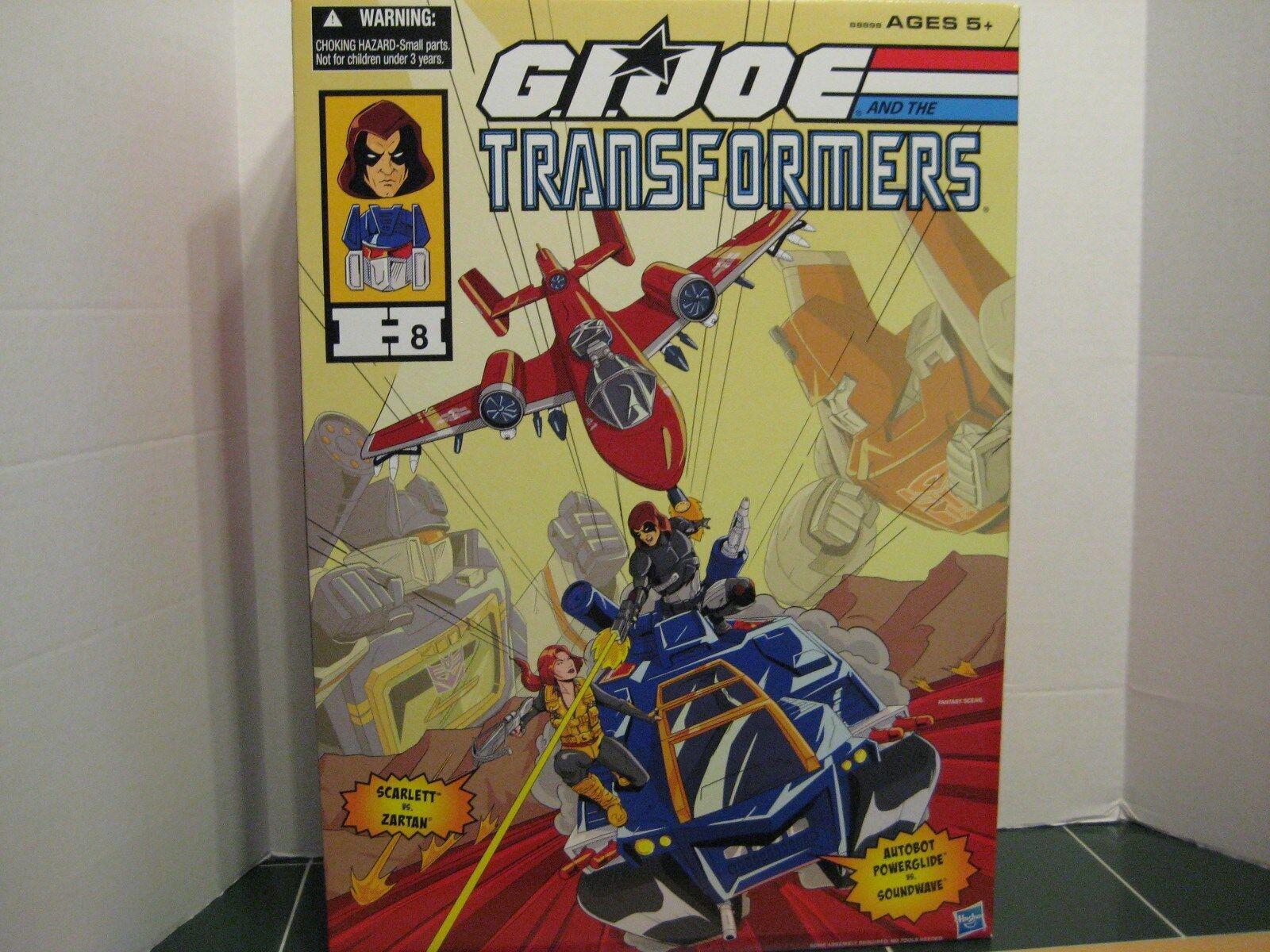 G.I.Joe  Transformers  Comic Con Exclusive Crougever Set  Svoiturelet vs Zartan  livraison gratuite