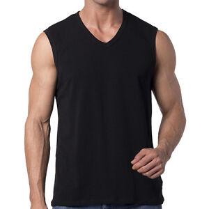 sleeveless muscle tee