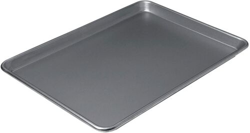 """Chicago Metallic Nonstick Jelly Roll Sheet Pan Cookie Baking Tray 17/"""" x 13/"""" Gry"""