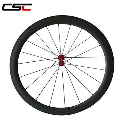 CSC  Only 1530g 25mm width U shape 50mm Clincher carbon bike wheelset