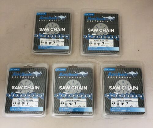 "5 Pack 18/"" Chainsaw Saw Chain Blade CHISEL 3//8/"" .050 66DL repl 72LGX066G STIHL"