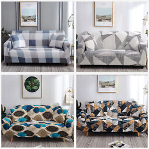 4 Size Stretch Sofa Covers Geometric Couch Cover Slipcover