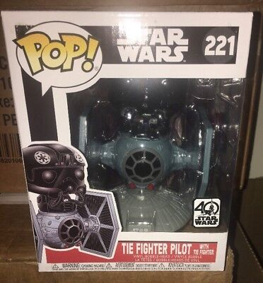 Funko Pop Deluxe Tie Fighter with Tie Pilot Collectible Figure 20106 Accessory Toys /& Games