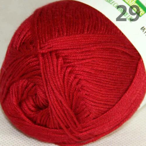 AIPYARN 1SkeinsX50g Natural Smooth Bamboo Cotton Crochet Yarn Hand Knitting 29