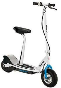 """E300S Seated Electric Scooter - 9"""" Air-filled Tires, Removable Seat, Up to 15"""