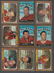 1966-67-Topps-Hockey-Cards-Lot-of-77