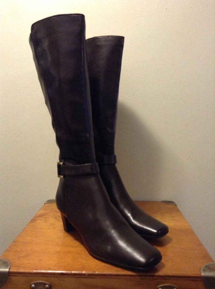 LIZ CLAIBORNE Dark Brown Knee High Boots SHERRY 8.5M 8.5M 8.5M ac742b