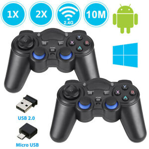 2.4G Wireless Gamepad Game Controller for Android Phone Tablet PC TV Box Black