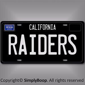 Oakland Raiders Nfl Fútbol Equipo 1960 California Aluminio Placa De Licencia De Vanidad Ebay