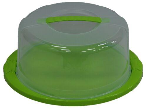 Portador de Pastel pastel de plástico recipiente de almacenamiento de gran tamaño con Cerradura Pastel cúpula con tapa