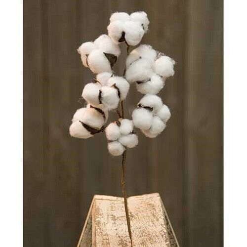 "Farmhouse Cotton Boll 12/"" Pick"