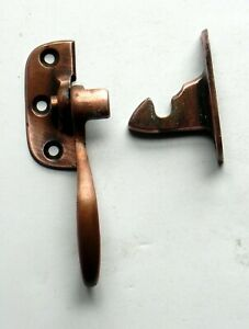 ANTIQUE ICE BOX COOLER LATCH HANDLE Solid Copper, Mounts Right Side Opens Left
