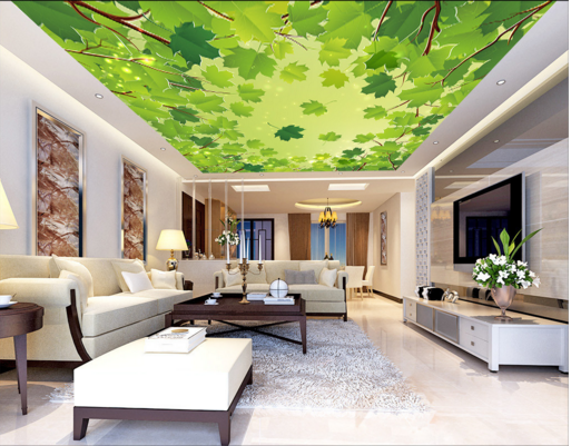 3D Leaves 508 Ceiling WallPaper Murals Wall Print Decal Deco AJ WALLPAPER AU