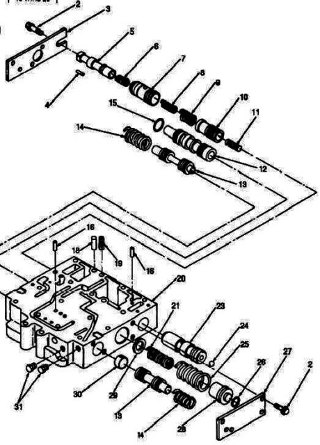 Caterpillar 130g 2p4504 End Cover Trans Selector Diff Control Valve