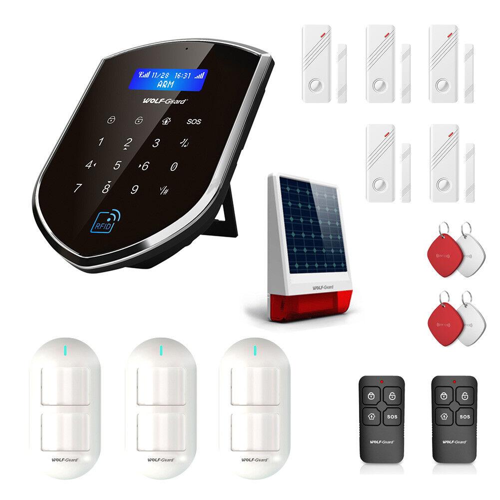 Wifi Inalámbrico 3G sistema de seguridad alarma Domiciliaria Sensor De Movimiento PIR Puerta Sirena Solar