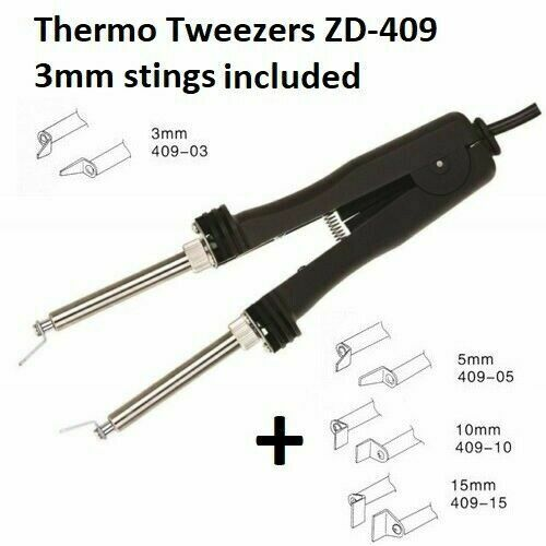 Soldering Iron Thermo Tweezers with 2 stings for dismantling SMD 48W 220V EXC