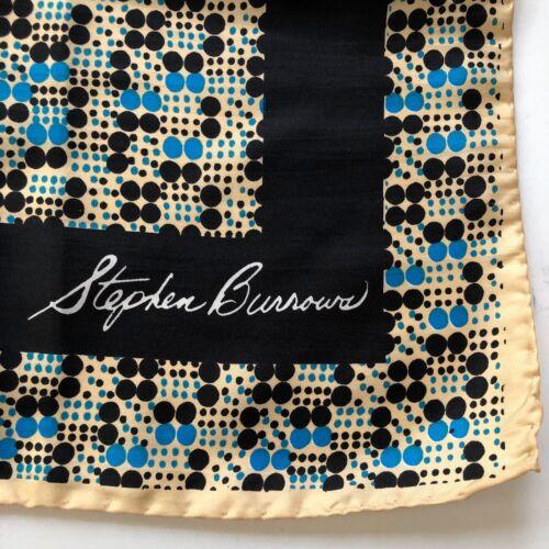 Stephen Burrows Vtg Silk Scarf Hand Rolled Designe