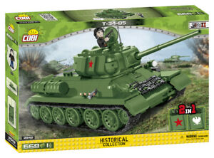 Cobi 2542 - (2in1) Soviet T34-85 Medium Tank (668pcs)  Building Blocks - WWII