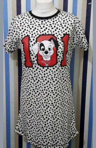 Femmes Primark Disney 101 Dalmatiens Chien Chemise de nuit T-shirt Nightwear Femme.