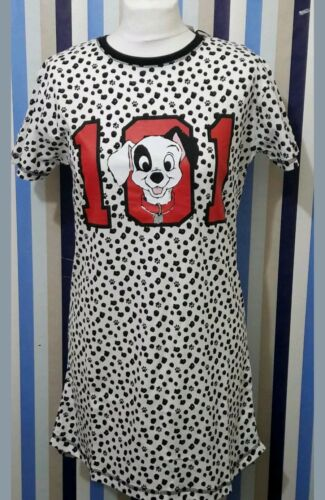 Ladies Primark Disney 101 Dalmatians Dogs Nightdress T-Shirt Nightwear Women/'s.