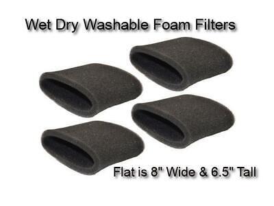 20 Foam Sleeve Wet Dry Filters fit ShopVac 90585 9058562 Type R VacMaster Genie