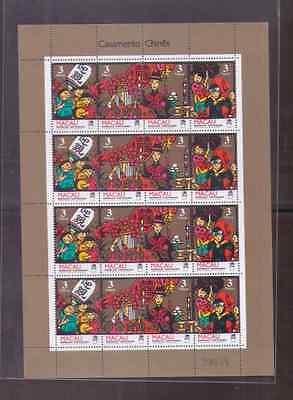 Sheetlet Of 4 Sets 1993 Chinese Marriage China Macau Macao