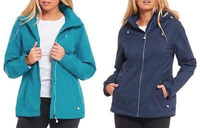 New Plus Size Blue Long Jacket Hood Coat Warm Soft Lined Womens *LICK*