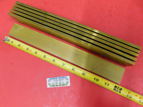 6 Pieces 1/4 x 1-1/2 C360 BRASS FLAT BAR 12 long Solid Mill Stock H02 .25