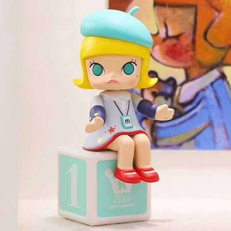 Pop Mart X kennyswork Feliz Tren Fiesta Mini figuras de arte del juguete pintor Molly secreto