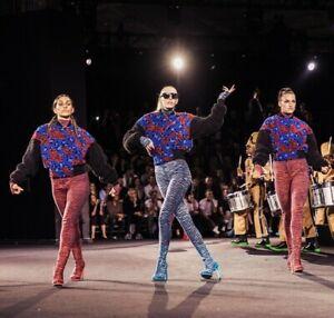 8e3cef90af8c8 Details about KENZO x H&M Tiger Print Patterned Wool Fit Pants Leggings S M  L Red Blue Black