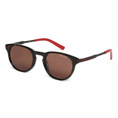 Ducati Sunglasses Unisex Metal Frame Rounded Tinted Lens