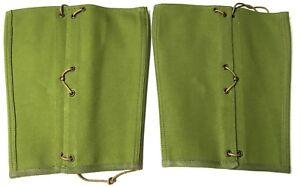 WWI-US-M1910-INFANTRY-LEGGINGS-PEA-GREEN-CANVAS-MEDIUM