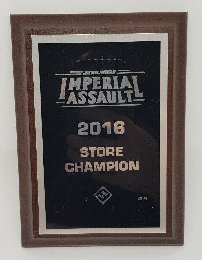 Star Wars Imperial Assault - 2016 Store Champion Winners Plaque   Trophy