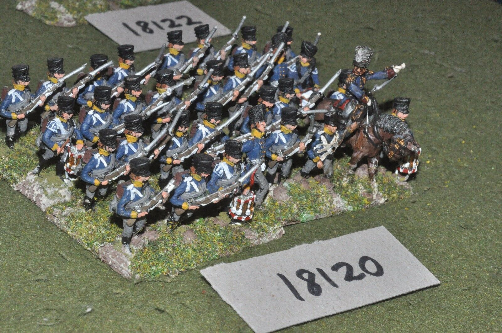 25mm napoleonic   prussian - infantry 32 figs - inf (18120)
