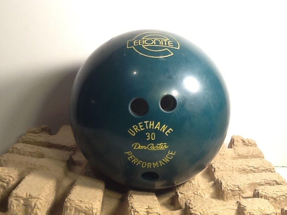 Vintage Bowling Ball Vintage Ebonite Urethane Bowling Ball Green Don Carter 30