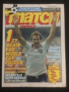 MAGAZINE-MATCH-N-72-WORLD-CUP-1982-MUNDIAL-82-SPAIN-ENGLAND-CZECHS-KUWAIT-ETC