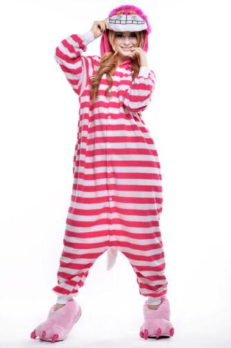 Women Unisex Adult Onesie0 Animal Cheshire Cat Kigurumi Pajamas Cosplay Costume