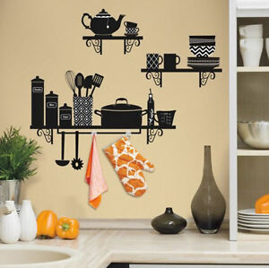 Image Is Loading BUILD A KITCHEN SHELF Wall Stickers MURAL 37