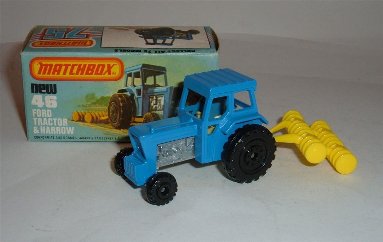 Matchbox Superfast No. 46, Ford Tractor & Harrow, - Superb.