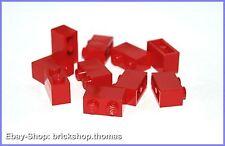 Lego 10 x Basicsteine Bausteine rot - 3004 - Brick 1 x 2 red - NEU / NEW