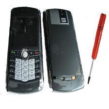 Blackberry 8100 Pearl Housing Fascia Back Battery Cover Keypad Lens Black +T5 UK