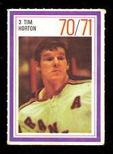 1970-71 ESSO POWER PLAYERS NHL 3 TIM HORTON MAPLE LEAFS N Y RANGERS HOCKEY STAMP